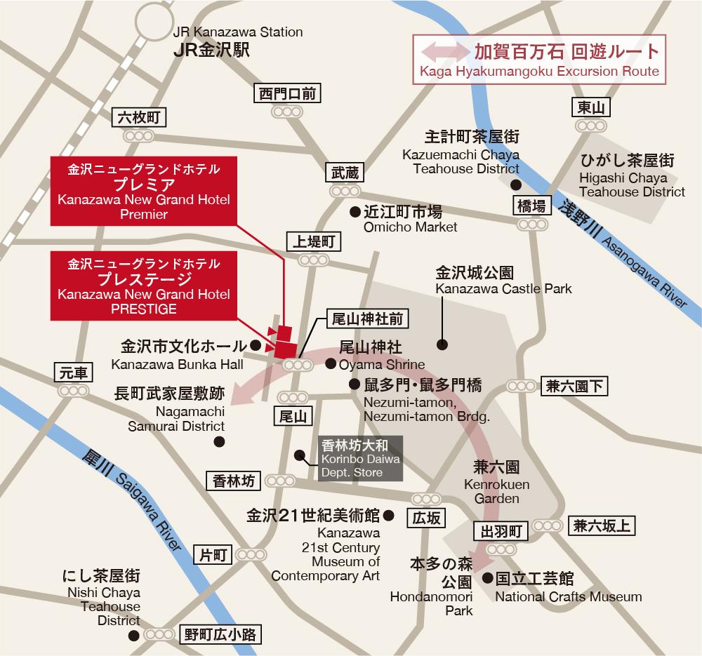 金沢ニューグランドホテルマップ